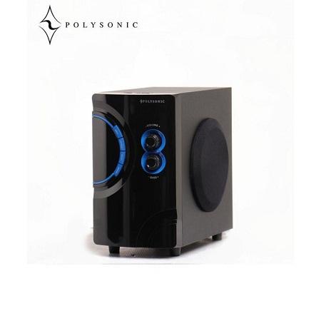 Polysonic MP-76 AC\DC Subwoofer 2.1 Bluetooth, FM Radio - Black
