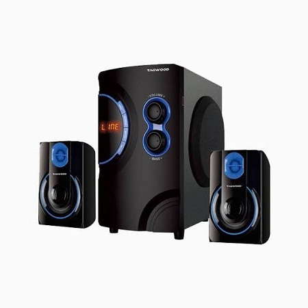 Polysonic MP-76 AC\DC Subwoofer 2.1 Bluetooth, FM Radio - Black