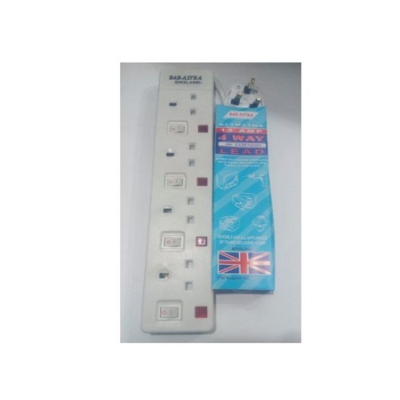Power Extension Cable 4 Way -White