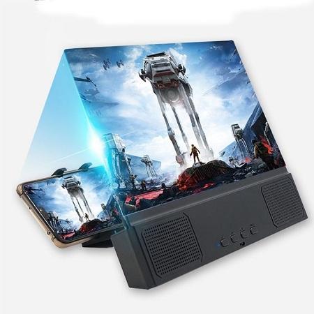 Phone Screen Magnifier 3D Holder Bluetooth Speaker