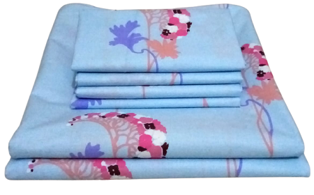 Pure Cotton Bedsheet Set- 7*7