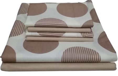 Pure Cotton Bedsheet Set- 7*7
