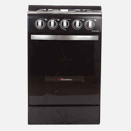 Binatone FGC-501A, Floor Standing Gas Cooker, 50 x 50 - Black