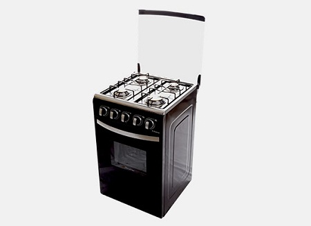 Binatone FGC-501A, Floor Standing Gas Cooker, 50 x 50 - Black