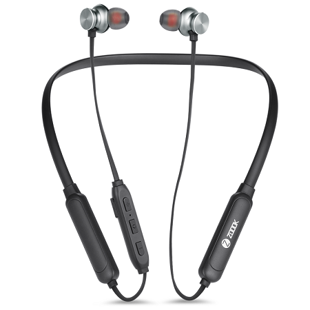 Sports Bluetooth Wireless Earphone/Neckband with 48 Hours Battery Life Microphone for Clear Calls (Active Black)