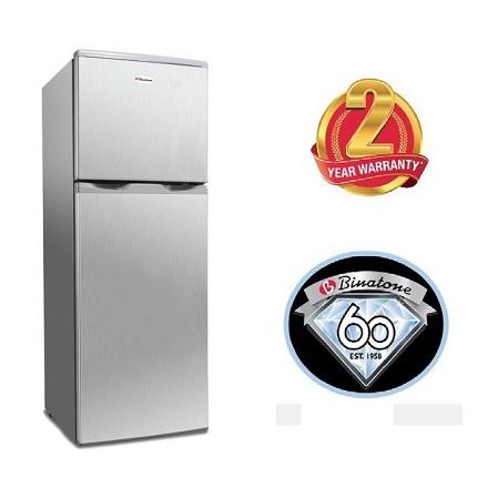Binatone FR-138 - Double Door Refrigerator, 138L - Silver