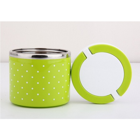 Stainless Steel Dotted  Lunch Box - Thermal Food Container Portable Dinnerware