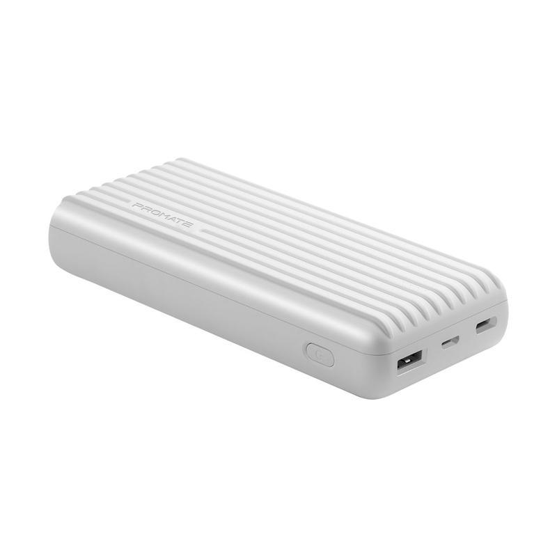 White 20000 mah High-Capacity Power Bank -TITAN-20C