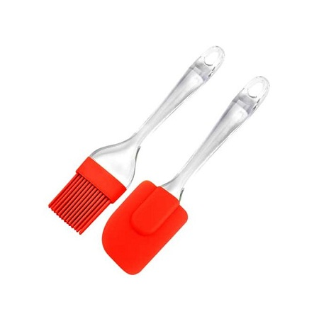 Generic Silicone Spatula And Pastry Brush Set