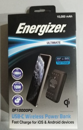 ENERGIZER QP10000PQ 10000mAh Wireless Fast Charger Powerbank
