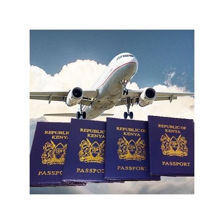 Fashion Kenyan Passport Cover Holder Protector Wallet - Dark Blue