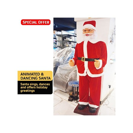 Giant Big Animated Moving Dancing Santa Claus With Music
