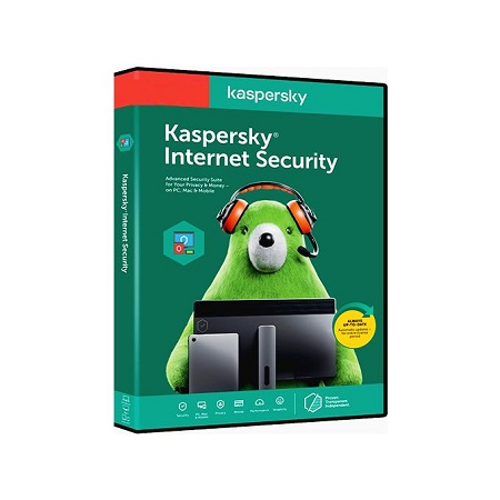 Kaspersky 2020 Internet Security 1 +1 Users/Devices - 1 Year License - For PC and Android - Antivirus and Secure VPN for PC Included - 2 Users