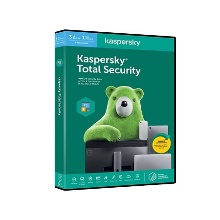 Kaspersky Total Security 2020 - 4 Users - For PC and Android - 1 Year License - File Protection - Passwords Manager - Online Banking Protection - Guard kids