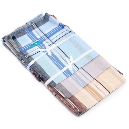 12 Pack Check Patter Mens Handkerchiefs 100% Cotton Square Super Soft & Washable