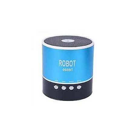 Robot Mini Bluetooth Wireless Speakers with free Memory card- Blue