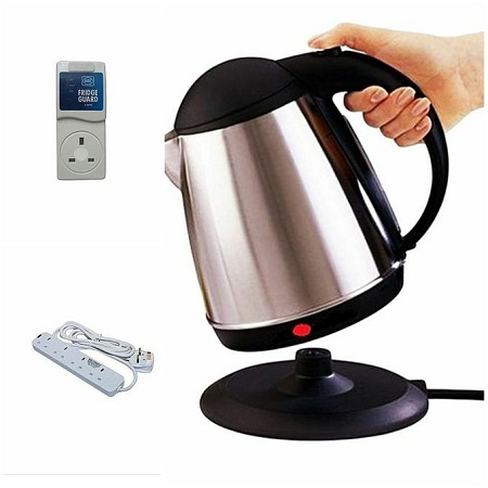 Scarlett Electric Kettle 2 Litres Free 4 Way Extension and Fridge Guard
