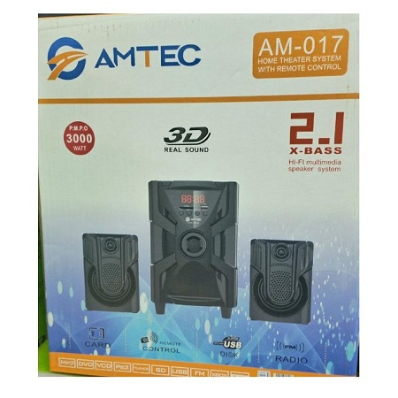 Amtec AM-017-2.1 Speaker System 5000WATTS PMPO
