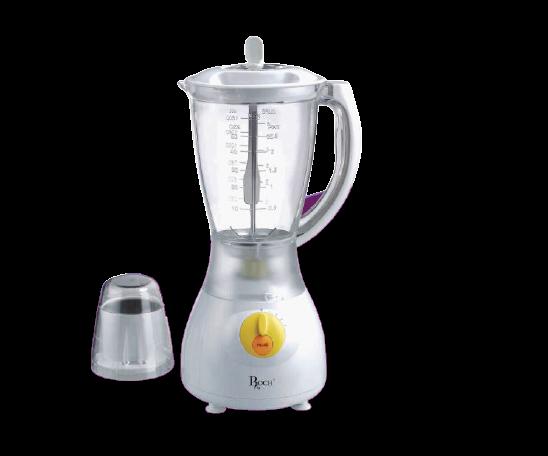 ROCH RBL-117-C Blender & Grinder 1.5 Litres, 400W/500W - White