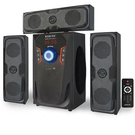 Rebune Multimedia Speaker System, 60W, Black- RE-15-005