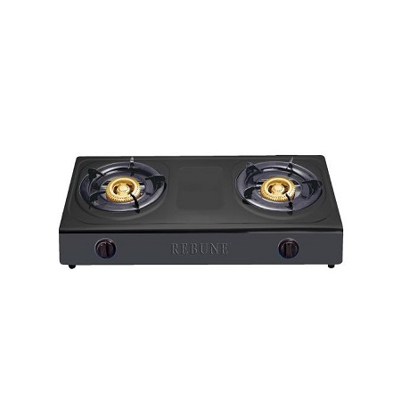 Rebune Non-Stick Gas Stove, 2 Burner- RE-4-045