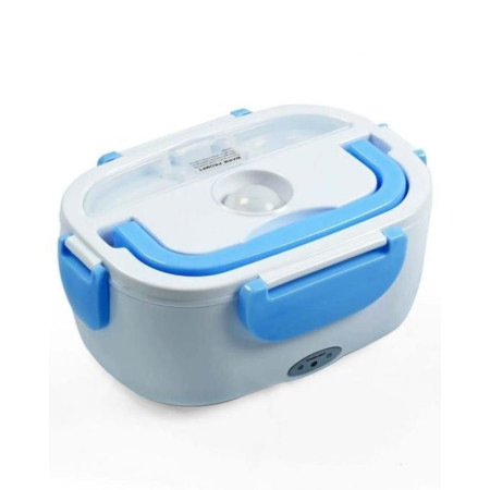 Electric Lunch Box - White & Blue .