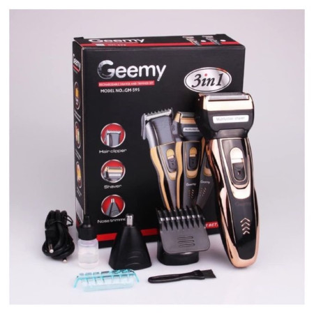 Geemy 3 In 1 Rechargeable Hair, Beard & Nose Shaver / Trimmer