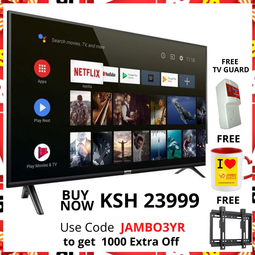RH-LE43DA1-B 43 Inch Smart UHD LED TV, With Free Wall Bracket Inside