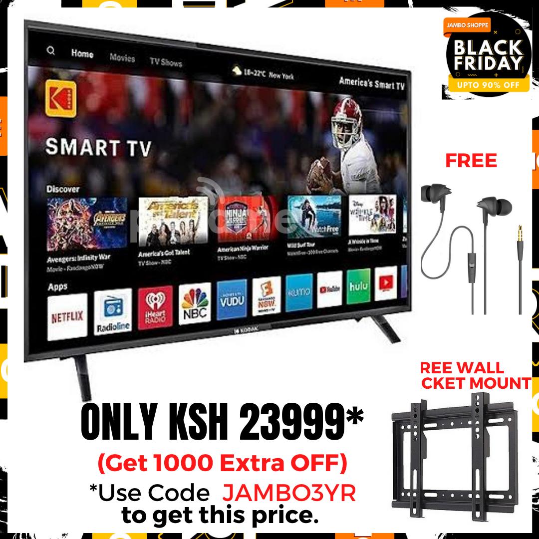 ROCH 43 inch Digital UHD LED Frameless Smart TV- Black (RH-LE43DA1-B)