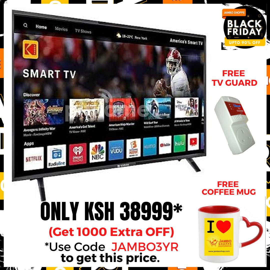 ROCH 55 Inch 4K UHD LED Frameless Smart TV- Black (RH-LE55DA1-B)