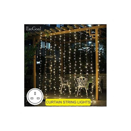 Led Drop Lights 2Mx3M 20 Strings, 30 Led In Row, White Cable, Warm White Win Win