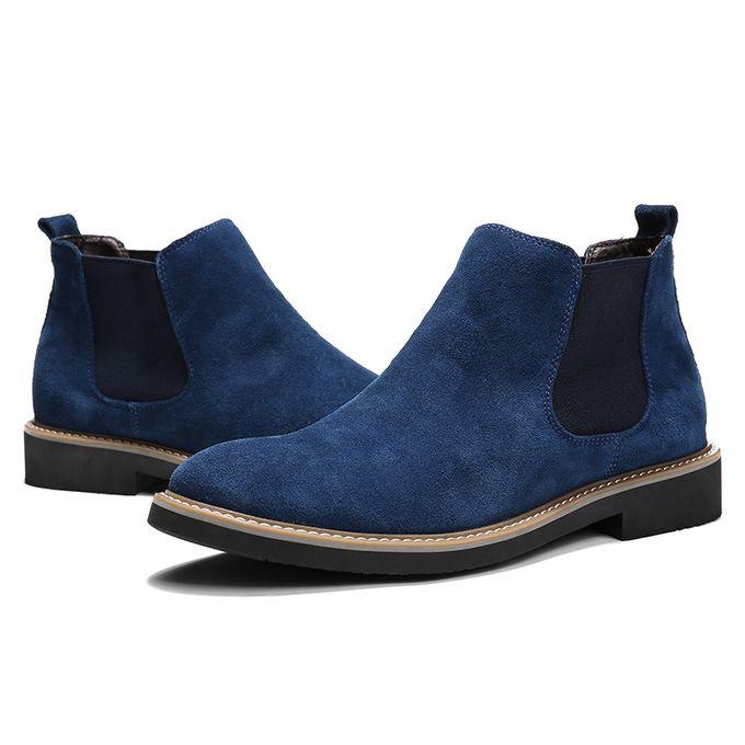 Fashion Men's Shoes Boots British Leather Retro Martin