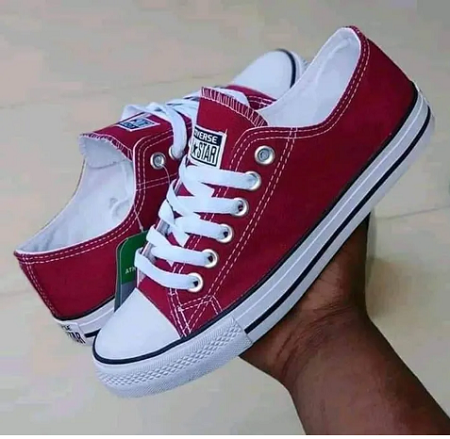 Unisex Canvas Rubbers Maroon