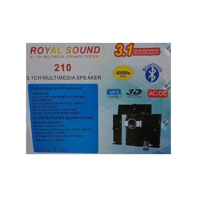 Royal Sound Rs210 MULTIMEDIA SPEAKER SYSTEM 12000W-3.1