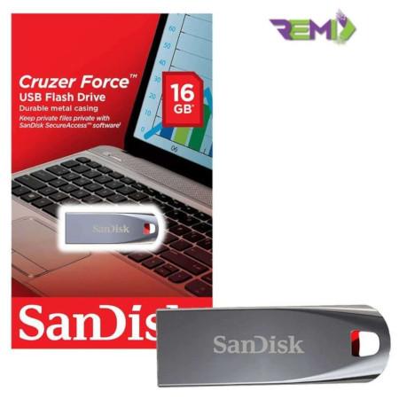 Sandisk Cruzer Force USB Flash Disk 16GB - Metallic