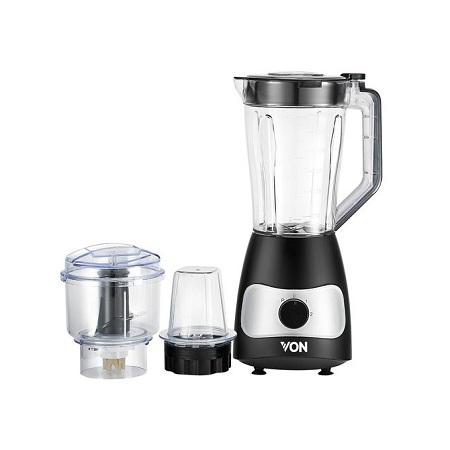 VON VSBT04MCK 3 In 1 Blender + Mill + Chopper - 400W