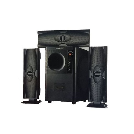 Vitron V635 3.1 HOME THEATER BUILT IN POWERFUL POWERFUL AMPLIFIER, SUB-WOOFER SYSTEM 3.1 CH 10000W - BLACK