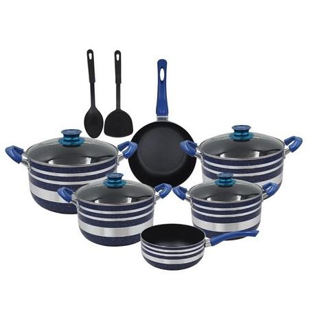 Yi Tong 12 Pieces Non Stick Cooking Pots/ Sufuria Set -