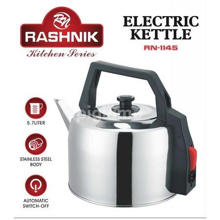 Rashnik RN-1145 - Electric Kettle - 5.7 Liters - Silver/Black