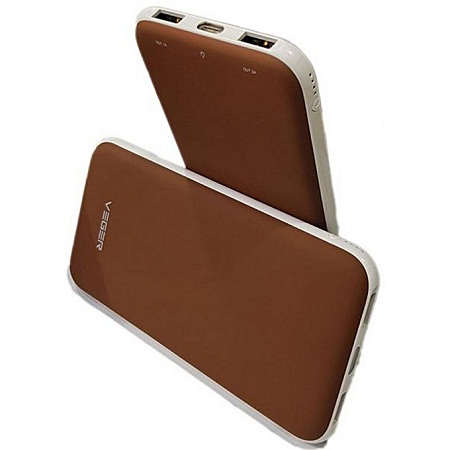VEGER Slim Ports Portable Charger- 25000mAh Power Bank.