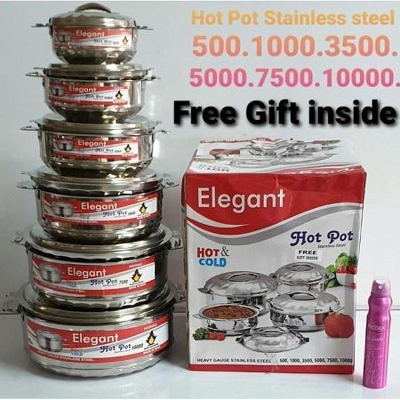 Elegant 6 Pcs Hot Pots Set