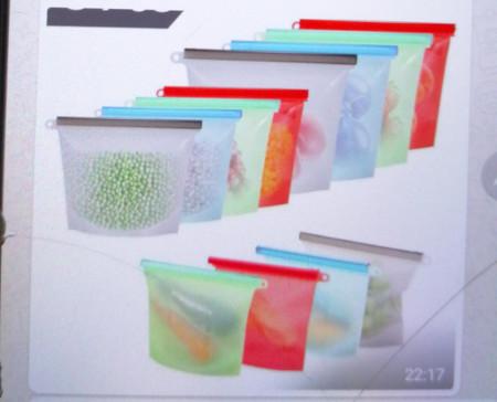 Reusable Silicone Fridge Food Storage Bags