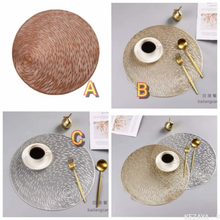 Round, Heavy And Classy Non-Woven Dining Table Mats