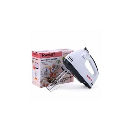 Scarlet 7 Speed Cake And Stainless Steel Beaters Hand Mixer