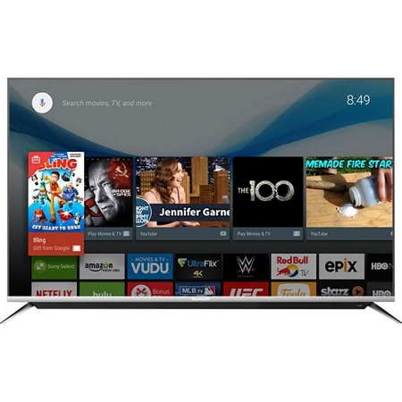 Vision Plus 55 Inch FRAME LESS 4K ULTRA HD ANDROID TV, NETFLIX VP-8855K