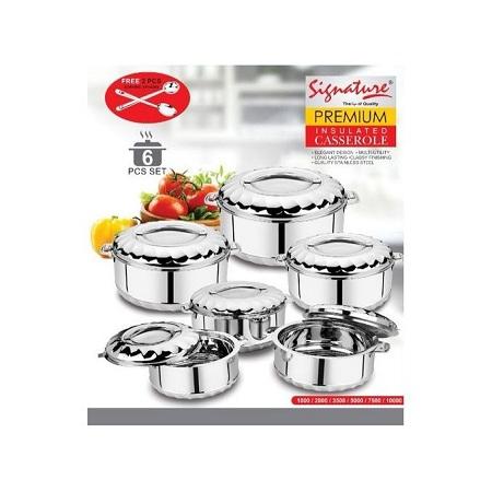 Signature 6 Pieces Hot Pots + 2 PCs Serving Spoons