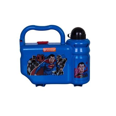 Technoplast Justice League School Box Set (lunchbox, Water Bottle & Spoon/Fork)