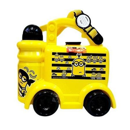 Yellow Minion Life School Box Set (Lunchbox, Water Bottle & Spoon/Fork)
