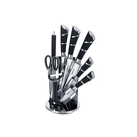 Kitchen Cutlery Knife Set - Black