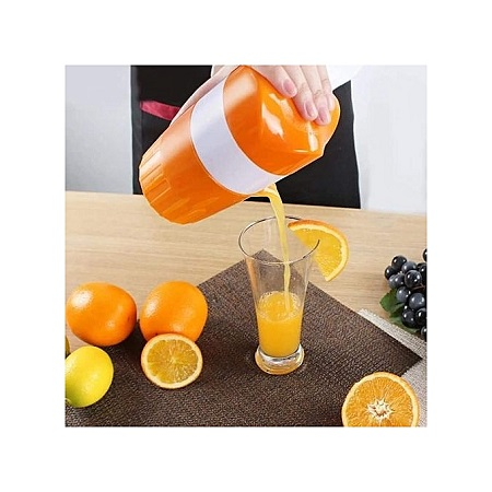 A Manual Juicer, Juice Press-(Orange and white)